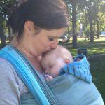 baby ziek draagdoek koorts