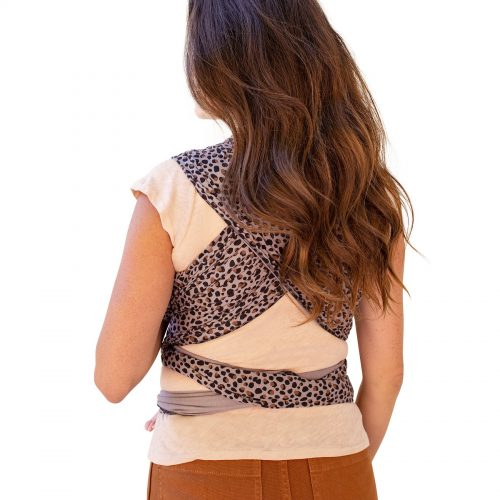 moby wrap rekbare doek katoen luipaard leopard