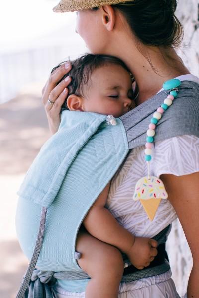 Limas babydraagzak lichtblauw/ grijs