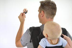 draagdoek spiegel back checker in gebruik hoppediz