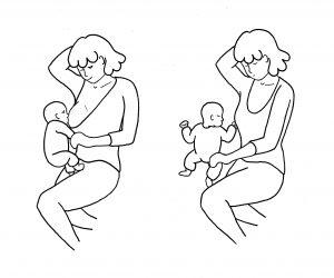 veilig samen slapen met je baby voeden draagdoek Sarie Bleumink