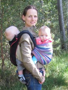 tweeling dragen draagzak draagdoek dubbeldragen bondolino geweven doek