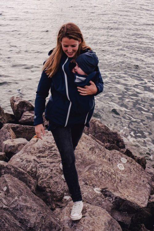 mamalila softshell marineblauw navy ice