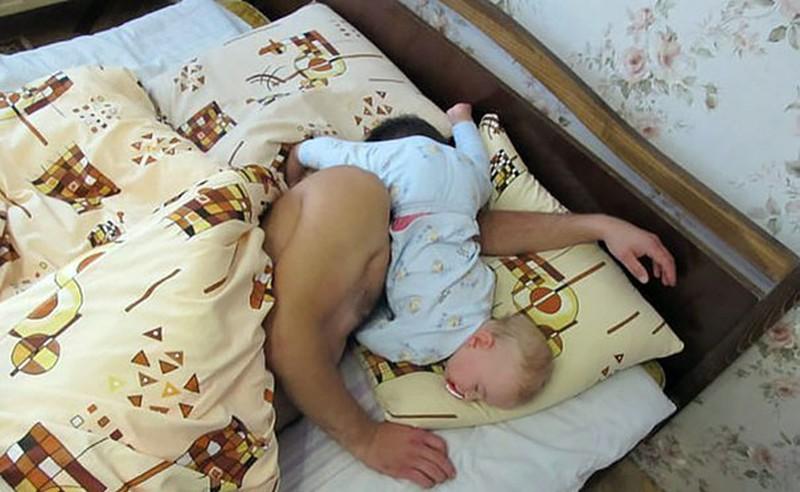 samen slapen draagdoek