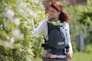 Storchenwiege draagzak baby carrier grafit antraciet