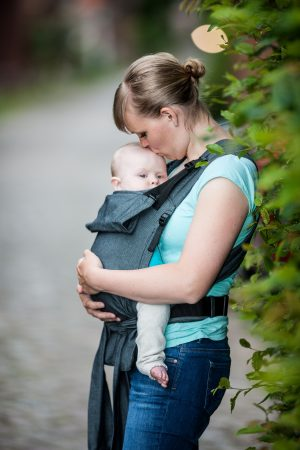 storchenwiege draagzak antraciet baby carrier grafit