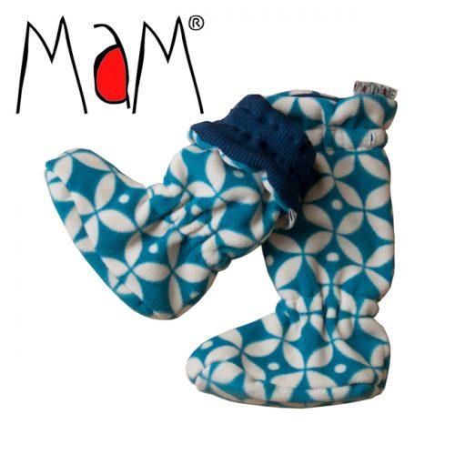 winter booties/baby slofjes merino wol 4-point star