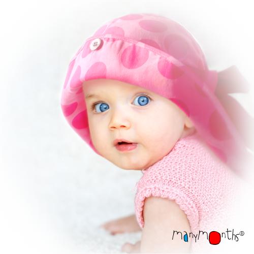 zonnehoedje baby peuter MaM roze stippen met strik