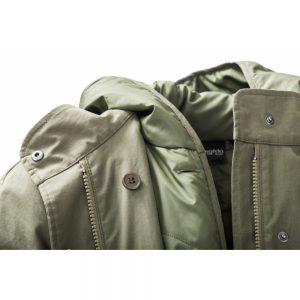 Mamalila draagjas halflang short coat macintosh khaki olijf