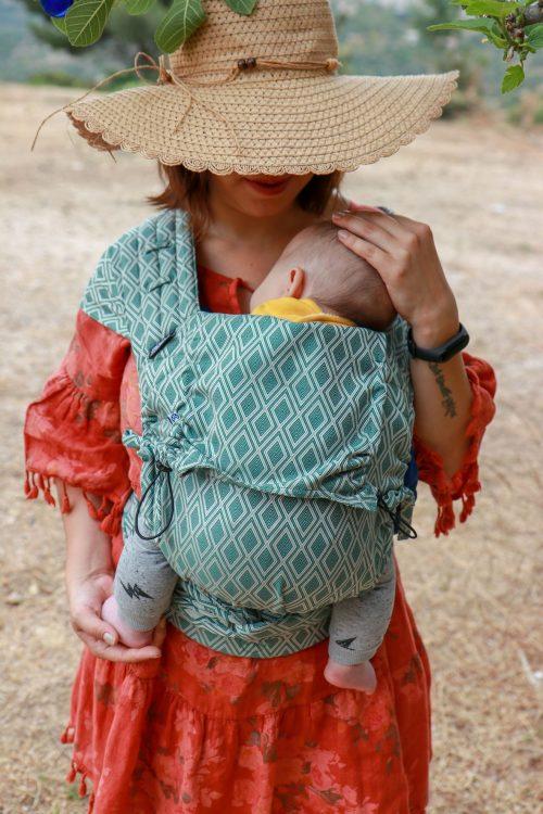 neko toddler half-buckle groen wit lycia dalyan